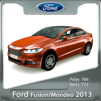 3d model of fusion mondeo 2013