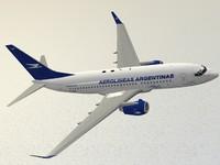 boeing 737-700 aerolineas argentinas 3d model