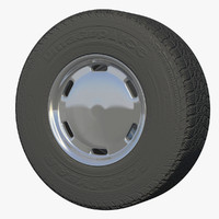 dry van wheel 3d obj