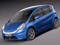 honda fit ev hybrid 3d 3ds