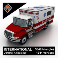 3d international durastar ambulance truck games