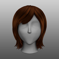 Stylized Medium Length Female Hairstyle