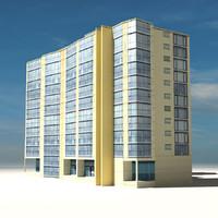 3d model beach building