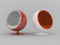 modern ball chair obj