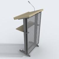 3d podium presenter