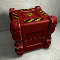 Red Box Biohazard Container