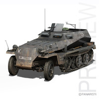 SD.KFZ 250/1 - Half-track troop carrier