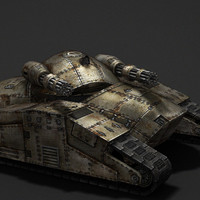 sci-fi tank tracks 3d model