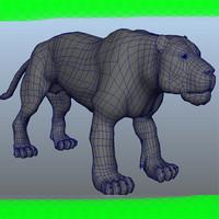 lion tiger 3d model