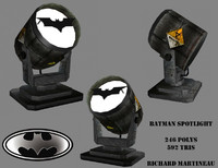 3d model batman spotlight