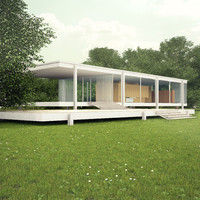 3d farnsworth house ludwig mies