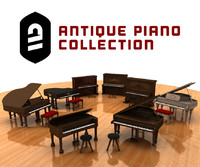 c4d antique piano