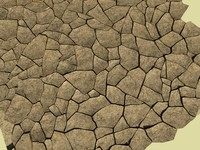 cracked earth 3d max