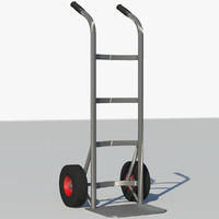 c4d hand truck dolly