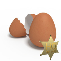 3d eggs chicken model