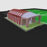 3d sports hall