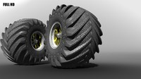 3d model of big tire
