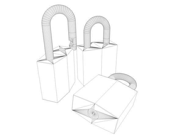 3d model keyed padlock - Lock... by dvfjr