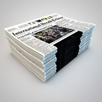 newspaper journal 3d model