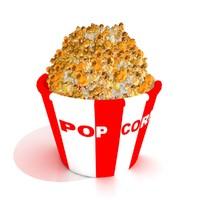 3d popcorn basket