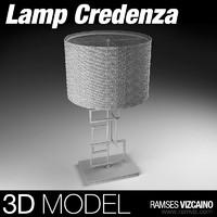 porta credenza lamp 3d model