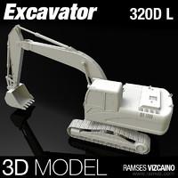 l excavator 3d max