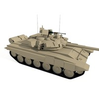 t-90 battle tank 3d model