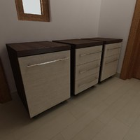 mobile pedestal drawers obj