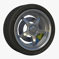 3d model sport rim tread wheel