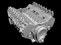 3d model small-block chevrolet engine