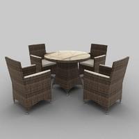 Rattan Seat Set 02