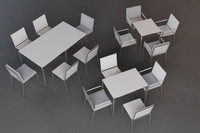 3d model outdoor furniture tables chairs