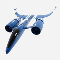 Futuristic airplane/Space Speedster Sci Fi Spacecraft