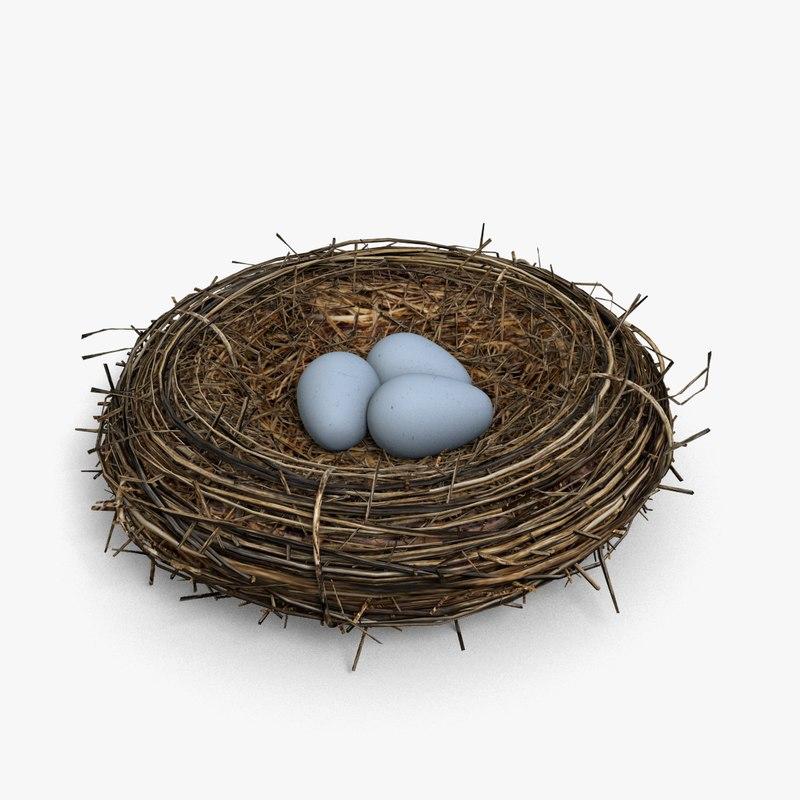 3d max birds nest