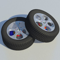 tread wheel sport rim 3d c4d