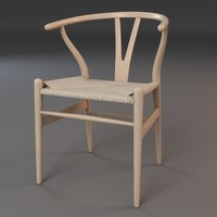 3d model hans wishbone chair