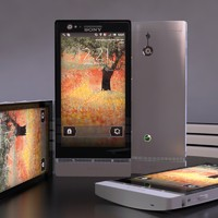 3d sony xperia p cellphone model