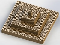 3dsmax pyramid labyrinth