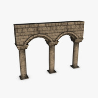columns arches 3d model