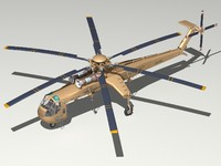 sikorsky ch-54a skycrane helicopter 3d 3ds