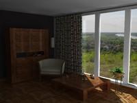 c4d simple interior