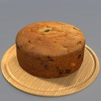 3d model fruit cake manor