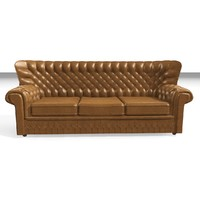 devon 3 seater leather chair 3d model