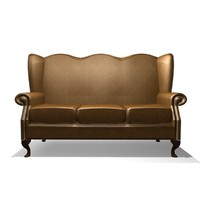 3d model classic winged 3 seater