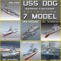 USS DDG Destroyer & Battleship Collection