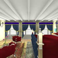 3d bedroom home interior