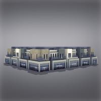 modern generic building 3d model