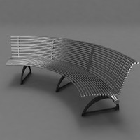 park metal bench 3d max