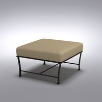 Restoration Hardware - Carmel Ottoman Painted Metal