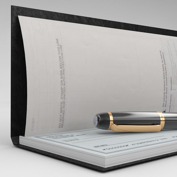 3d model check book fountain pen - Check book & Pen... by Marketing Arts Group